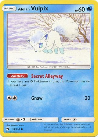 Alolan Vulpix - 53/214 - Common
