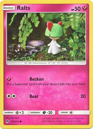 Ralts - 139/214 - Common - Pokemon Card Singles » Sun & Moon