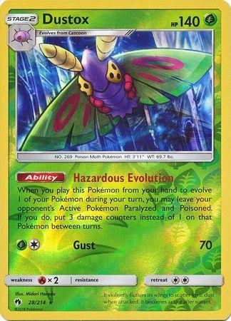 Dustox - 28/214 - Rare - Reverse Holo