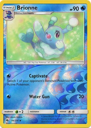 Brionne - 66/214 - Uncommon - Reverse Holo - Pokemon Card