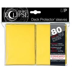 Ultra Pro - Standard Size Pro-Matte Eclipse 80 ct Sleeves - Yellow