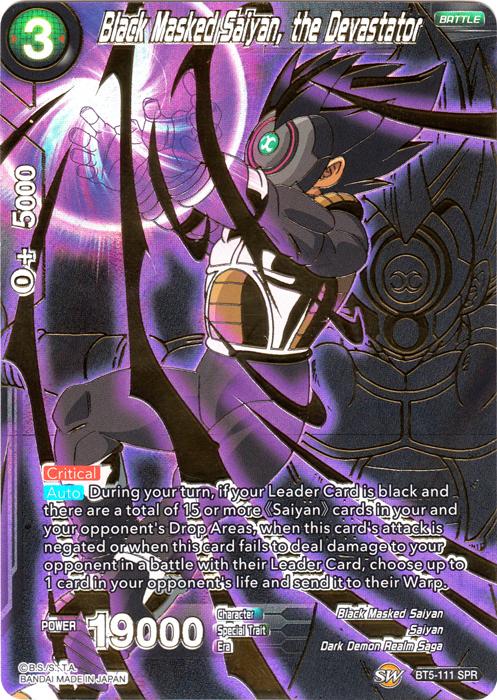 Black Masked Saiyan, the Devastator - BT5-111 - SPR