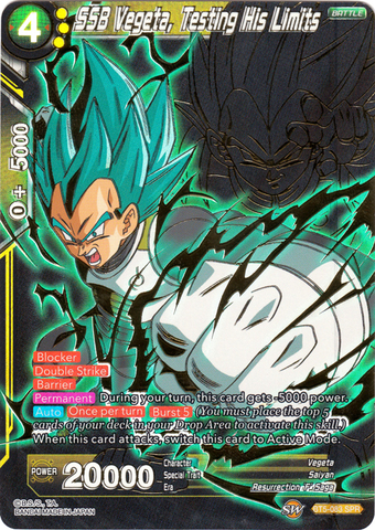 SSB Vegeta, Testing His Limits - BT5-083 - SPR