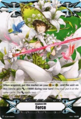 ▽ Imaginary Gift Marker [Force] White Lily Musketeer, Cecilia - V-GM/0061EN - GM (Regular) [V-EB03]