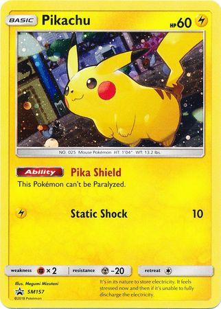 Pikachu - SM157 - Promo - SM Black Star Promo