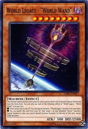 "1st Edition Common /""World Wand/"" SOFU-EN017 Yugioh: World Legacy"