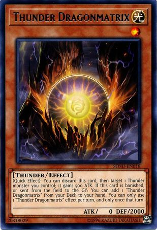 Thunder Dragonmatrix - SOFU-EN018 - Rare - Unlimited Edition