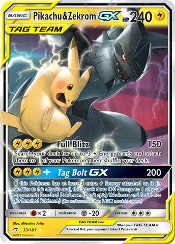 Pikachu & Zekrom GX - 33/181 - Ultra Rare
