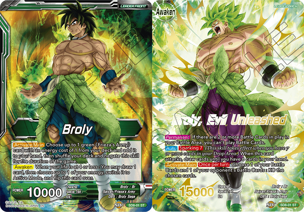 Broly // Broly, Evil Unleashed - SD8-01 - ST