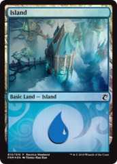 Island - Simic (B10/010) - Foil Ravnica Weekend Promo