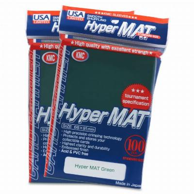KMC Hyper Matte Green Sleeves (100ct)