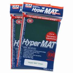 KMC Hyper Matte Green Sleeves (100ct)
