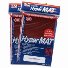 KMC Hyper Matte Red Sleeves (100ct)