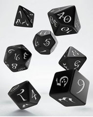 Classic RPG Dice Set black & white (7)