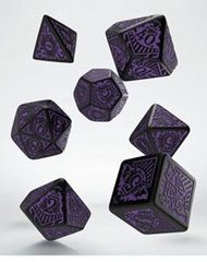 Call of Cthulhu: Horror on the Orient Express Dice Set black & purple (7)