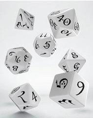 Classic RPG Dice Set white & black (7)