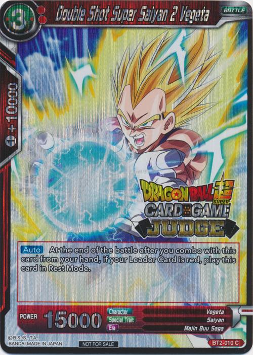 Double Shot Super Saiyan 2 Vegeta (Judge Promo) - BT2-010 - PR
