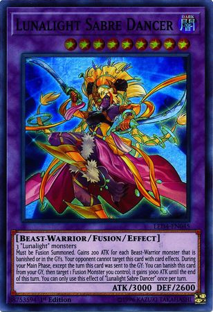 Lunalight Sabre Dancer - LED4-EN045 - Super Rare - 1st Edition