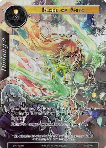 Blade of Faith - SNV-003 - R - Full Art
