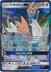 Cobalion GX - 106/181 - Ultra Rare on Channel Fireball