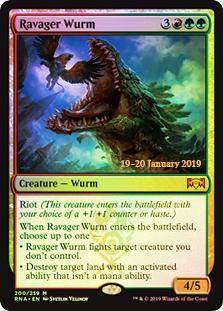 Ravager Wurm - Foil Prerelease Promo