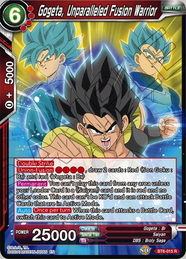 Gogeta, Unparalleled Fusion Warrior - BT6-015 - R - Dragon Ball