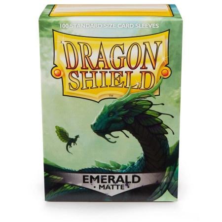 Dragon Shield Sleeves: Matte Emerald (Box Of 100)