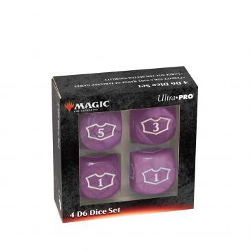 Ultra Pro - Deluxe 22MM Black Mana Loyalty Dice Set for Magic: The Gathering