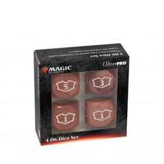 Ultra Pro - Deluxe 22MM Red Mana Loyalty Dice Set for Magic: The Gathering