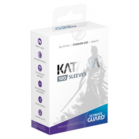 Ultimate Guard Standard Katana Sleeves Transparent 100ct