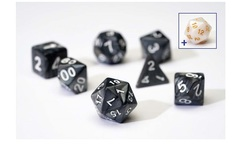 0101 Dice Set - Pearl Charcoal