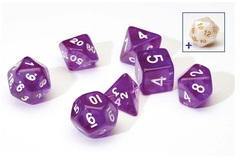 0105 Dice Set - Purple Translucent