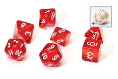0104 Dice Set - Red Translucent