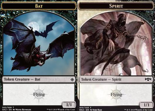 Bat Token (003) // Spirit Token (010)