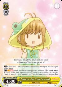 Sakura: Got You Covered - CCS/WX01-002S - SR