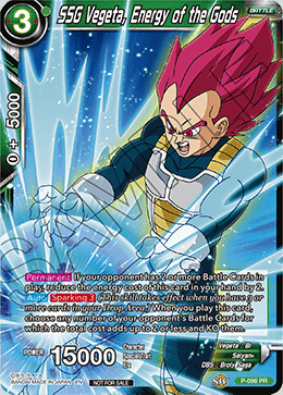 Powerful as Ever P-030 PR M//NM Promo FOIL Vegeta Dragon Ball Super Card Game
