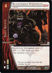 Bloodthirsty Werewolves, Army - Foil