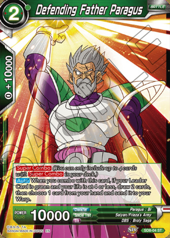 Defending Father Paragus - SD8-04 - ST - Parallel Foil