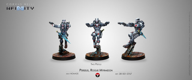 Perseus, Rogue Myrmidon (Two Pistols) (281501-0767)