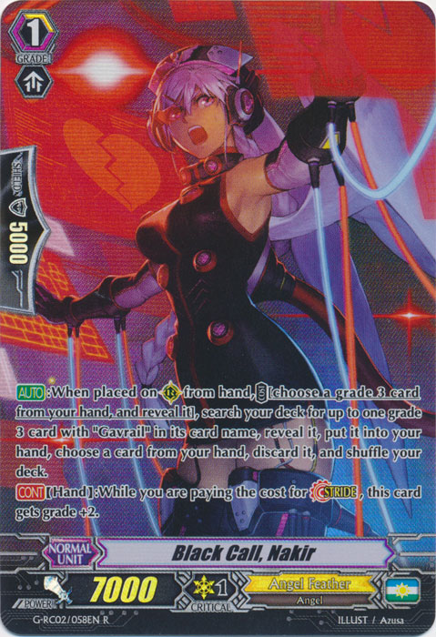 Black Call, Nakir - G-RC02/058EN - R