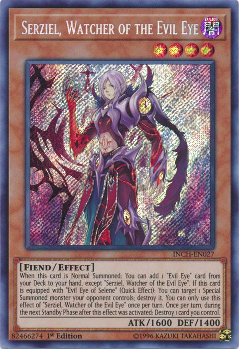 Evil Eye of Selene  INCH-EN032 Secret Rare 1st Ed  YUGIOH Cards Losse kaarten