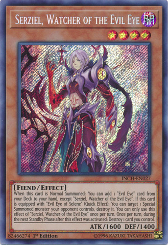 INCH-EN058 Magician/'s Left Hand Super Rare 1st Edition YuGiOh Card