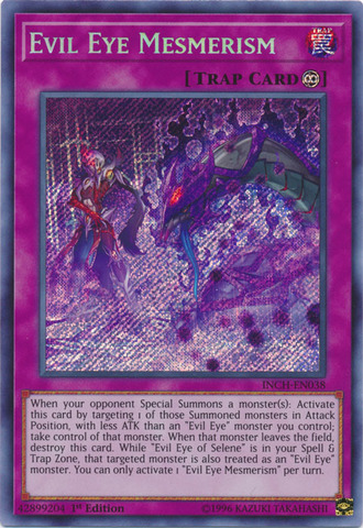 Evil Eye Mesmerism - INCH-EN038 - Secret Rare - 1st Edition