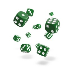 Oakie Doakie Dice - D6 Solid Green 12mm Set of 36 (ODD400025)