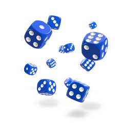 Oakie Doakie Dice - D6 Solid Blue 12mm Set of 36