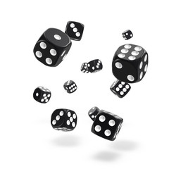 Oakie Doakie Dice - D6 Solid Black 12mm Set of 36