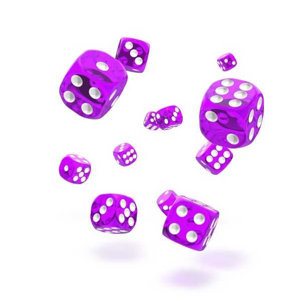 Oakie Doakie Dice - D6 Translucent Purple 12mm Set of 36