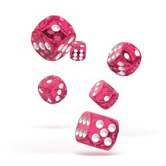 Oakie Doakie Dice - D6 Speckled Pink 16mm Set of 12 (ODD410019)