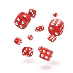 Oakie Doakie Dice - D6 Speckled Red 12mm Set of 36