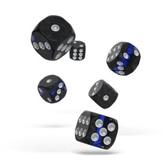 Oakie Doakie Dice - D6 Enclave Sapphire 16mm Set of 12
